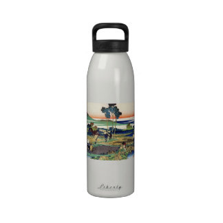 Hundred Poems Explained by the Nurse Hokusai Water Bottles