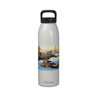 Hundred Poems Explained by the Nurse Hokusai Reusable Water Bottle