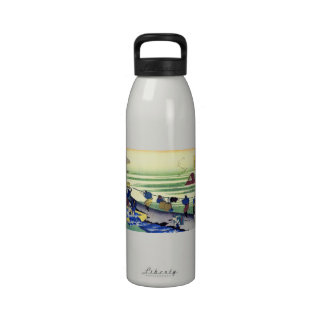 Hundred Poems Explained by the Nurse Hokusai Reusable Water Bottles