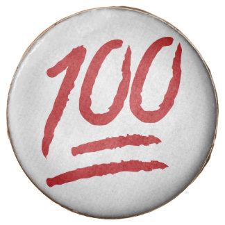 Hundred Points Symbol Emoji Chocolate Covered Oreo