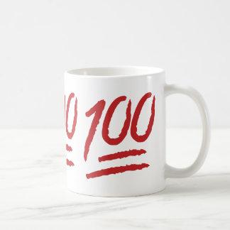 Hundred Points Symbol Emoji Classic White Coffee Mug