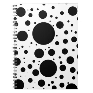 Hundreds of Black Dots and Circles in Varying Size Notebook