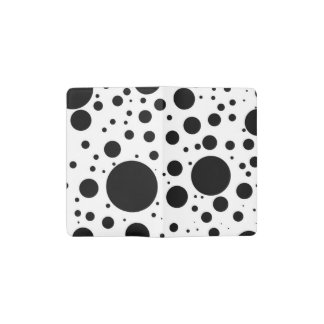 Hundreds of Black Dots and Circles in Varying Size Pocket Moleskine Notebook