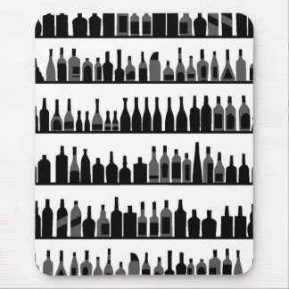 Hundreds of bottles of wine mouse pad