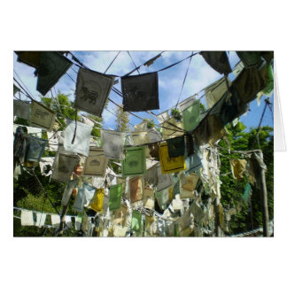 HUNDREDS OF PRAYER FLAGS GREETING CARDS