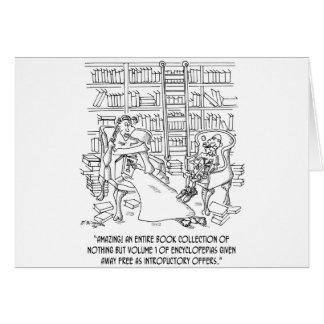 Hundreds of Volume 1 Encyclopedias Greeting Card