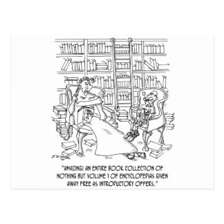 Hundreds of Volume 1 Encyclopedias Postcard