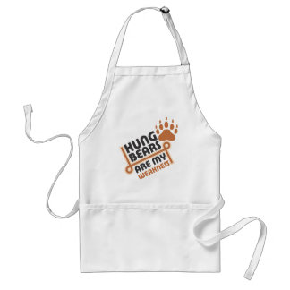 Hung bears are my weakness adult apron