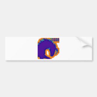 hung colour bumper sticker