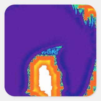 hung colour square sticker