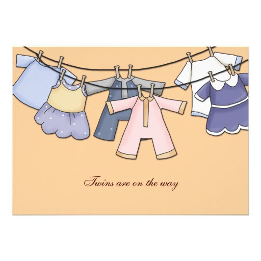 Hung out to Dry Baby Shower Invitation