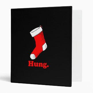 HUNG STOCKING 3 RING BINDERS