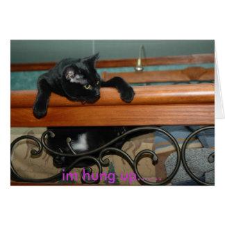 Hung Up Kitty Card