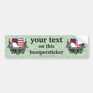 Hungarian-American Shield Flag Bumper Sticker