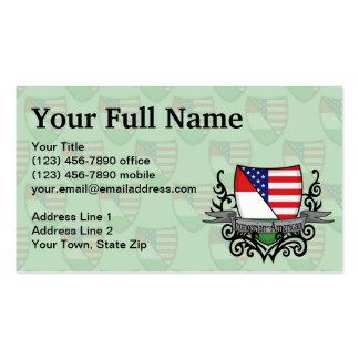 Hungarian-American Shield Flag Business Card