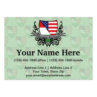Hungarian-American Shield Flag Business Cards