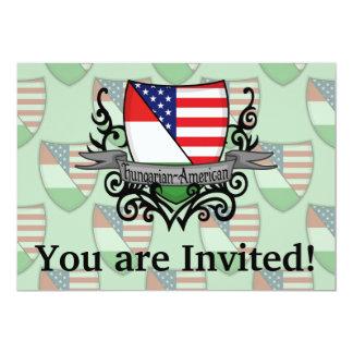 Hungarian-American Shield Flag Card