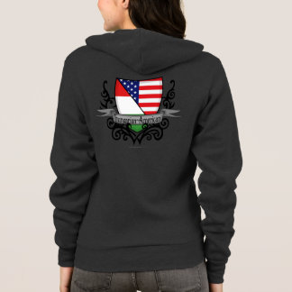 Hungarian-American Shield Flag Hoodie