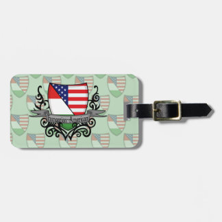 Hungarian-American Shield Flag Luggage Tag