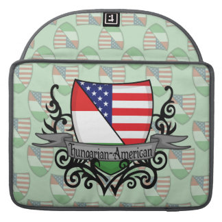 Hungarian-American Shield Flag Sleeve For MacBooks