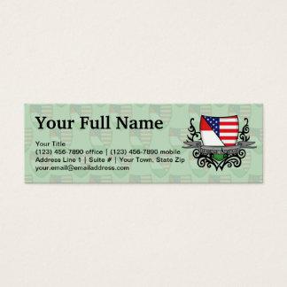 Hungarian-American Shield Flag Mini Business Card