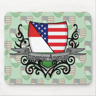 Hungarian-American Shield Flag Mouse Pad