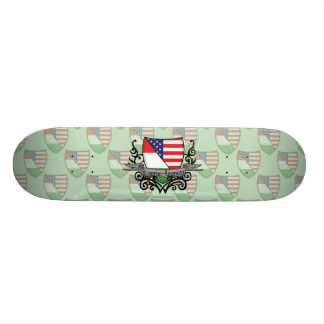 Hungarian-American Shield Flag Skate Boards
