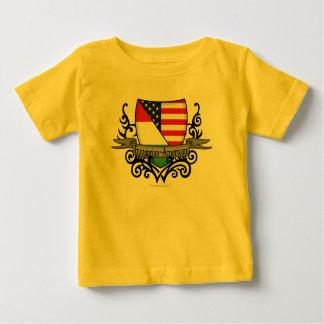Hungarian-American Shield Flag T Shirts