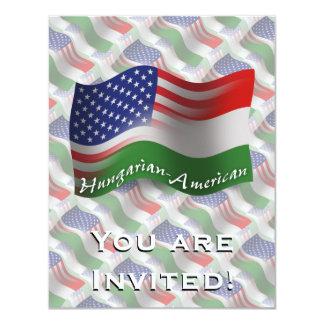 Hungarian-American Waving Flag Card