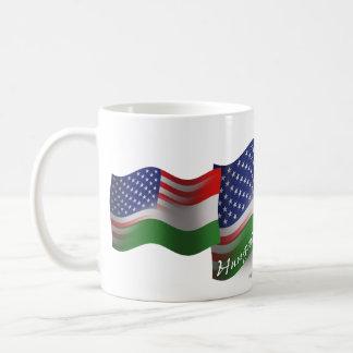 Hungarian-American Waving Flag Coffee Mug