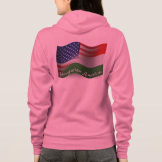 Hungarian-American Waving Flag Hoodie