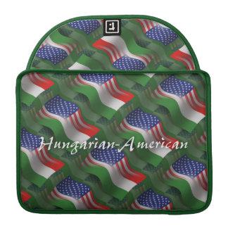 Hungarian-American Waving Flag Sleeves For MacBook Pro