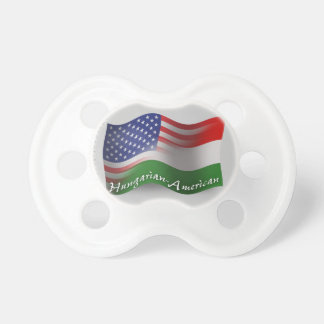 Hungarian-American Waving Flag Baby Pacifier