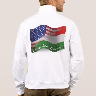Hungarian-American Waving Flag Printed Jackets