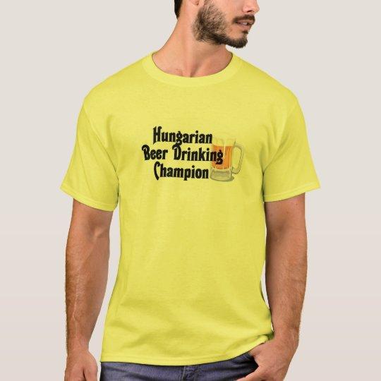 Hungarian Beer Drinking Champion T-Shirt