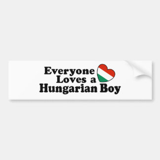 Hungarian Boy Bumper Sticker