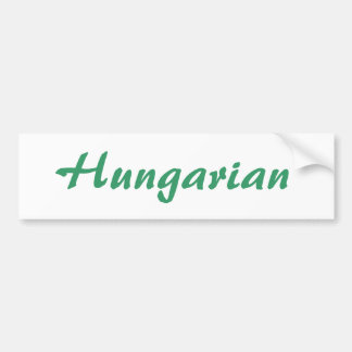 Hungarian Bumper Sticker