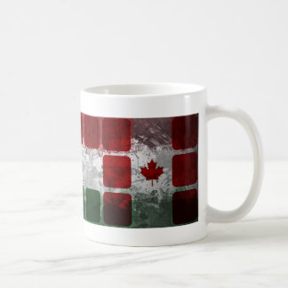 Hungarian Canadian motives with cubes Classic White Coffee Mug