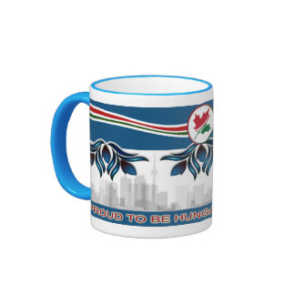 """Hungarian Canadian"" with flower motives Ringer Coffee Mug"