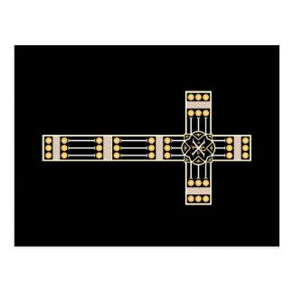 hungarian catholic cross religion god symbol stole postcard