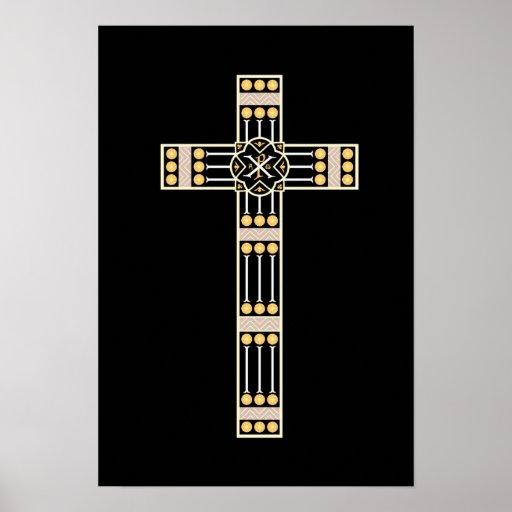 hungarian catholic cross religion god symbol stole poster