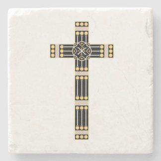 hungarian catholic cross religion god symbol stole stone coaster