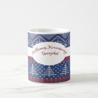 Hungarian Christmas Greeting Sweater Knit Coffee Mug