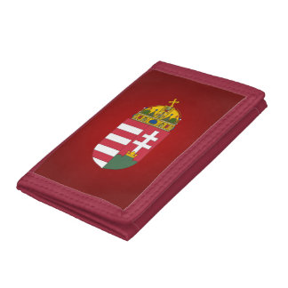 Hungarian coat of arms trifold wallets