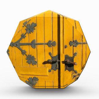 Hungarian Decorated Yellow Door Acrylic Award