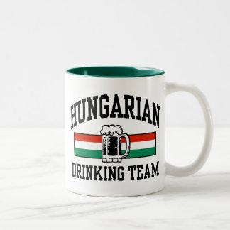 Hungarian Drinking Team Two-Tone Coffee Mug