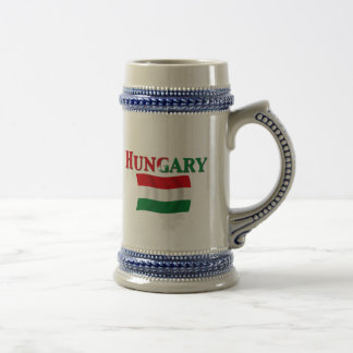 Hungarian Flag 2 Beer Stein