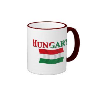 Hungarian Flag 2 Ringer Mug