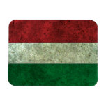Hungarian Flag Aged Steel Effect Flexible Magnet