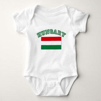 Hungarian Flag Baby Bodysuit